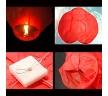 Небесный фонарик в форме сердца с праздником