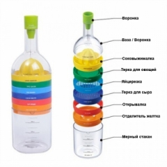Кухонный набор в форме бутылки 8в1