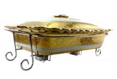 Мармит керамический с подогревом для блюд от свечей